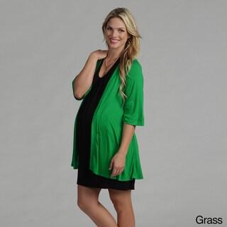 24/7 Comfort Apparel Women's Maternity Open Shrug