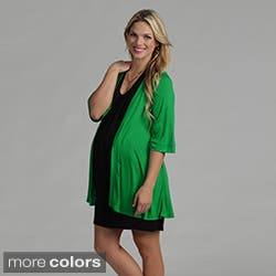 24/7 Comfort Apparel Women's Maternity Open Shrug|https://ak1.ostkcdn.com/images/products/7440706/24-7-Comfort-Apparel-Womens-Maternity-Open-Shrug-P14892523.jpg?impolicy=medium