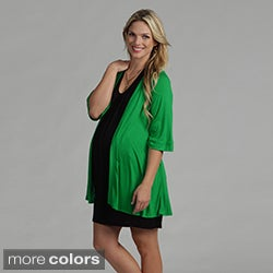 24/7 Comfort Apparel Women's Maternity Open Shrug