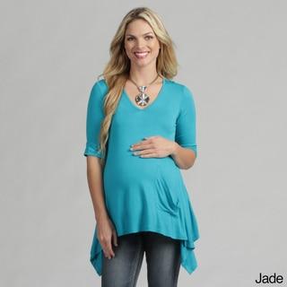 24/7 Comfort Apparel Women's Maternity One Pocket Tunic Top