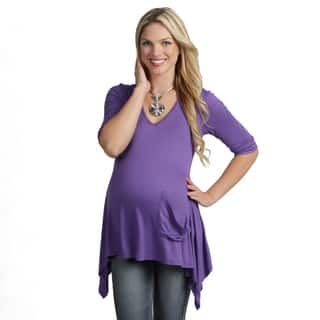 24/7 Comfort Apparel Women's Maternity One Pocket Tunic Top|https://ak1.ostkcdn.com/images/products/7440707/P14892524.jpg?impolicy=medium