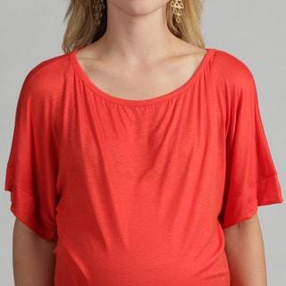 24/7 Comfort Apparel Women's Maternity Banded Dolman Top