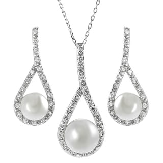 Journee Collection Sterling Silver Cubic Zirconia Jewelry Set