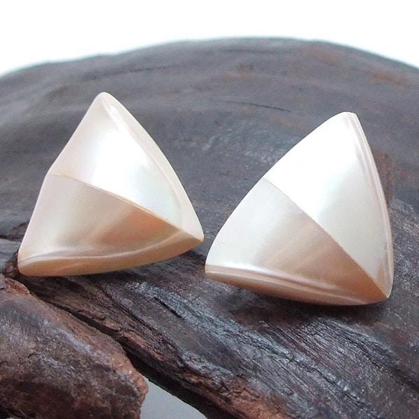 Triangular Shaped Heart of Nautilus Shell Stud Earrings (Philippines)