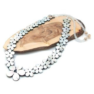 Plumeria Leis Tropical Dream Mother of Pearl Necklace (Philippines)