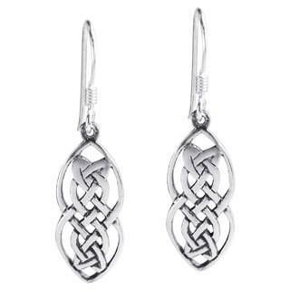 Nice Celtic Drop Sterling Silver Dangle Earrings (Thailand)