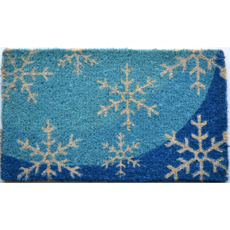 Imports Decor Blue Flakes Multi Coir Door Mat (2'6 x 1'6)