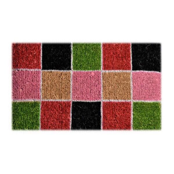 Four Square Multi Coir Door Mat (2'6 x 1'6)