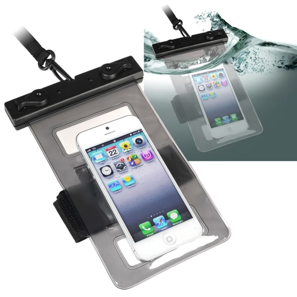 Insten Black Universal Waterproof Bag Cell Phone/ PDA with Armband and Lanyard