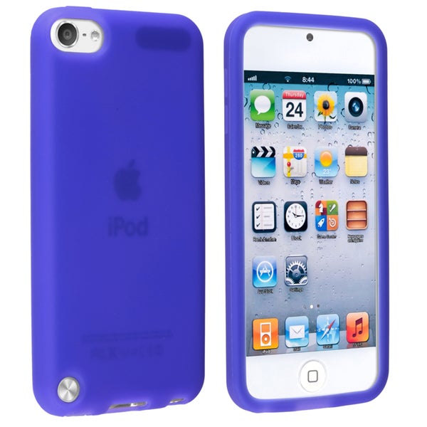 Insten Blue Soft Silicone Skin Rubber Case Cover For Apple iPod Touch 5th/ 6th Gen