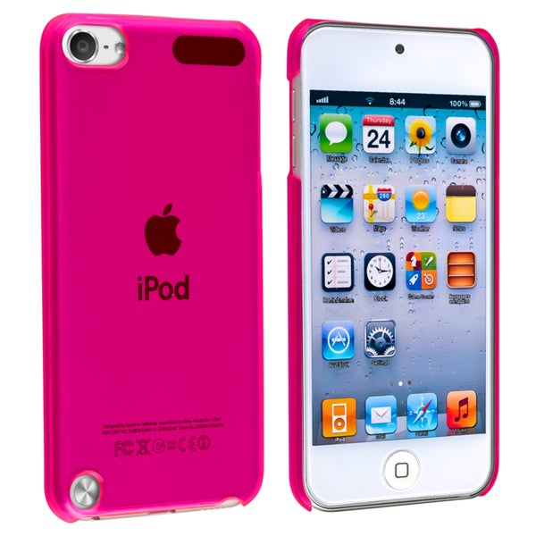 Insten Hot Pink Hard Snap-on Rubberized Matte Case Cover For Apple iPod Touch 5th/ 6th Gen