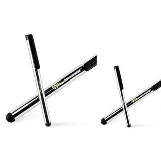 INSTEN Silver Stylus for Cell Phone/ Tablet (Pack of 2)