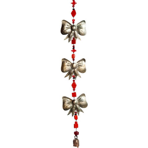 Handmade Bow-Wrapped Wind Chime (India)