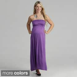 24/7 Comfort Apparel Women's Maternity Strapless Maxi Dress|https://ak1.ostkcdn.com/images/products/7440947/24-7-Comfort-Apparel-Womens-Maternity-Strapless-Maxi-Dress-P14892719.jpg?impolicy=medium