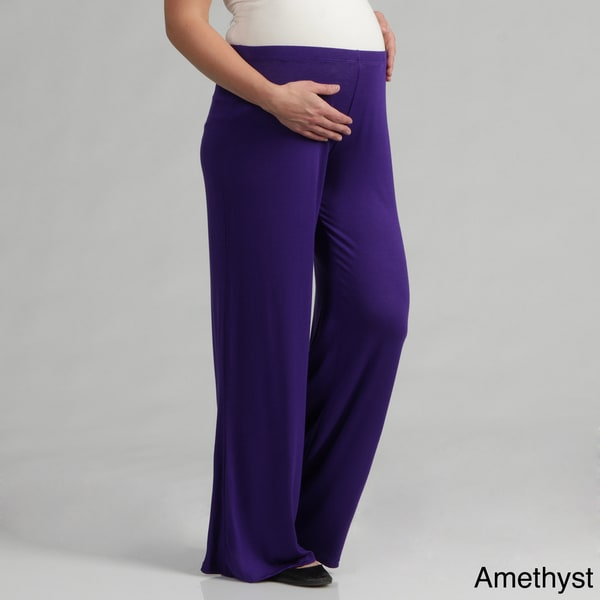 24/7 Comfort Apparel Women's Maternity Palazzo Wide-leg Pants ...