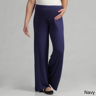24/7 Comfort Apparel Women's Maternity Palazzo Wide-leg Pants