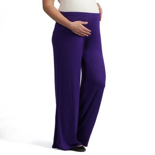 24/7 Comfort Apparel Women's Maternity Palazzo Wide-leg Pants|https://ak1.ostkcdn.com/images/products/7440948/P14892720.jpg?impolicy=medium