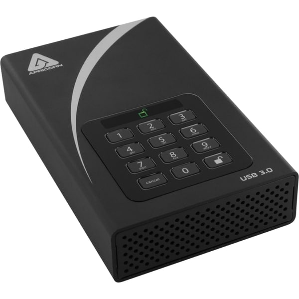 "Apricorn Aegis Padlock ADT-3PL128-1000 1 TB 3.5"" External Hard Drive"