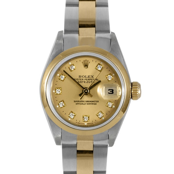 Pre-Owned Rolex Women's Two-Tone Stainless Steel Datejust Watch