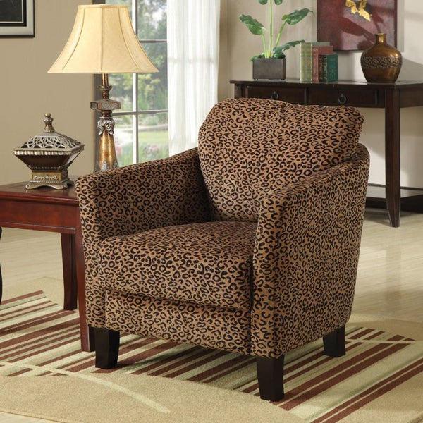Shop Leopard Print Accent Club Chair Free Shipping Today