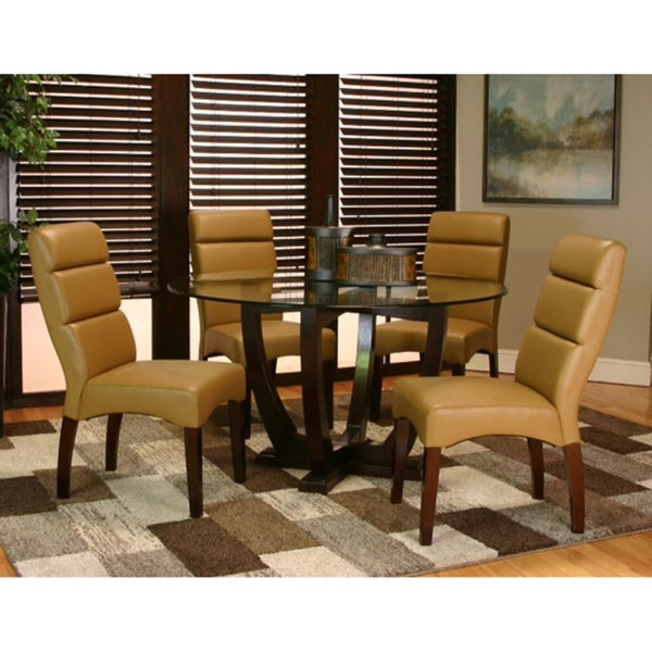 Contemporary Leather Dining Chairs (set of 2)