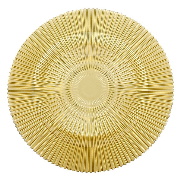 'Barcelona' 4-piece Gold Charger Plate Set