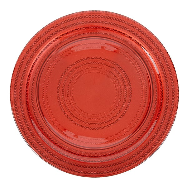 IMPULSE! 'Dot' Red Charger 4-piece Plate Set