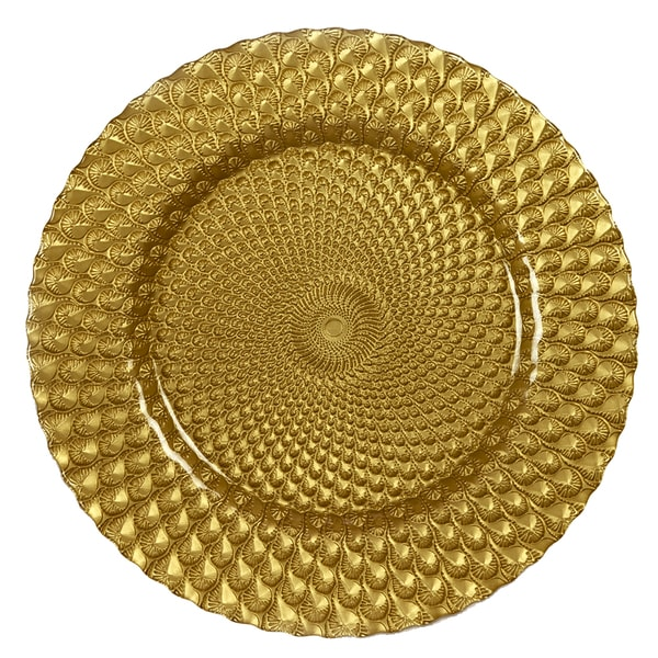 IMPULSE! 'Sorrento' Gold Charger 4-piece Plate Set