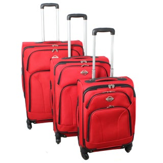 Travel Grand 3-Piece Expandable Spinner Wheels Upright Luggage Set (4 options available)