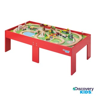 Discovery Kids Wooden Table Train Set