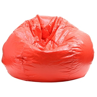 Gold Medal Red Extra Large Wet Look Vinyl Bean Bag