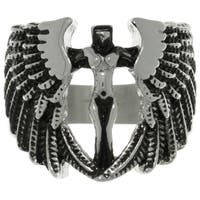 Carolina Glamour Collection Stainless Steel Archangel Ring