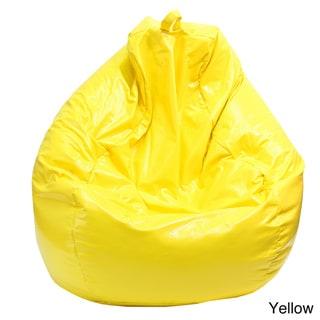 Gold Medal Large Wet-look Vinyl Teardrop Bean Bag