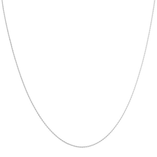 Fremada 14k White Gold 0.7-mm Round Cable Chain (16-20 inches)