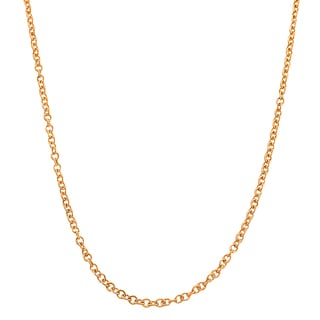 Fremada 18k Pink Gold 1-mm Round Cable Chain (18 inches)