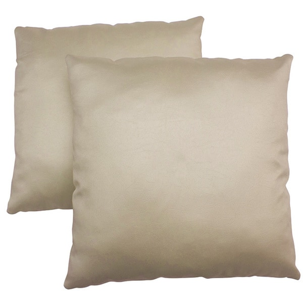 ABBYSON LIVING Charmant 18-inch Cream Decorative Pillows (Set of 2)