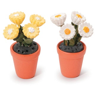 Timeless Miniatures-Potted Daisies (Pack of 2)
