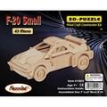 Puzzled F-20 Car 3D Puzzle Wood Craft Construction Kit