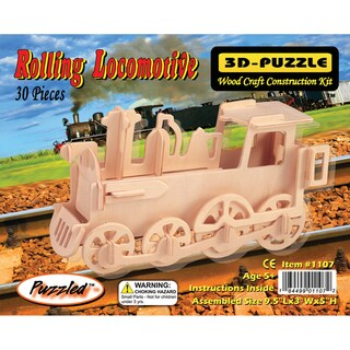 Puzzled Train 3D Puzzle Wood Craft Construction Kit