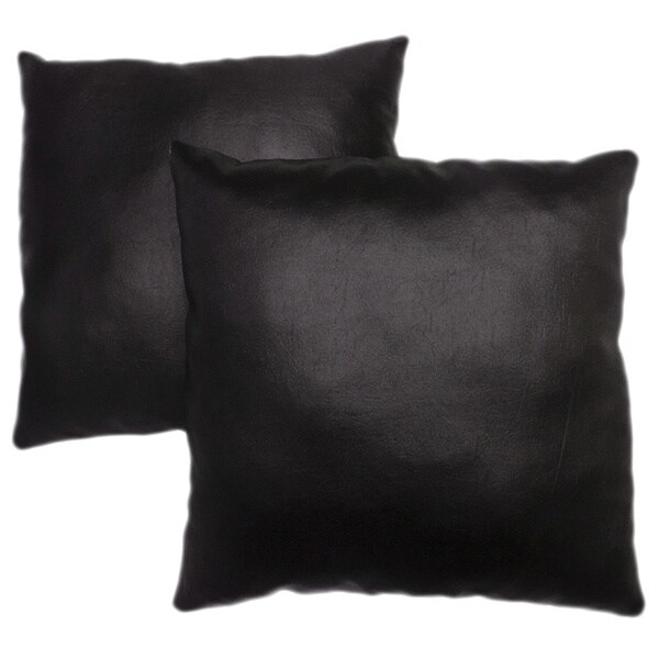 Abbyson Living Charmant 18-inch Black Decorative Pillows (Set of 2)
