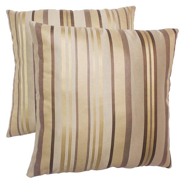 Abbyson Living Aroma 18-inch Cream Decorative Pillows (Set of 2)