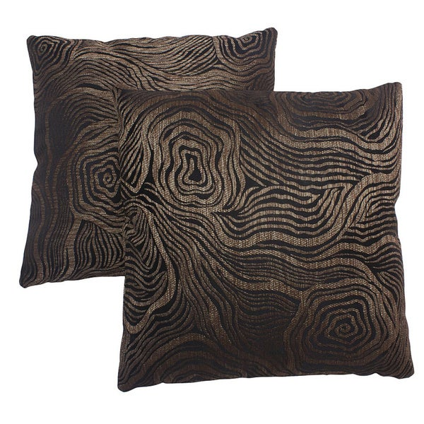 Abbyson Living Barclay 18-inch Brown Decorative Pillows (Set of 2)