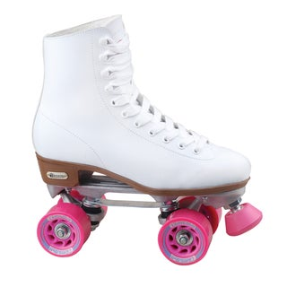 Chicago Skates Women's White and Pink Rink Skate