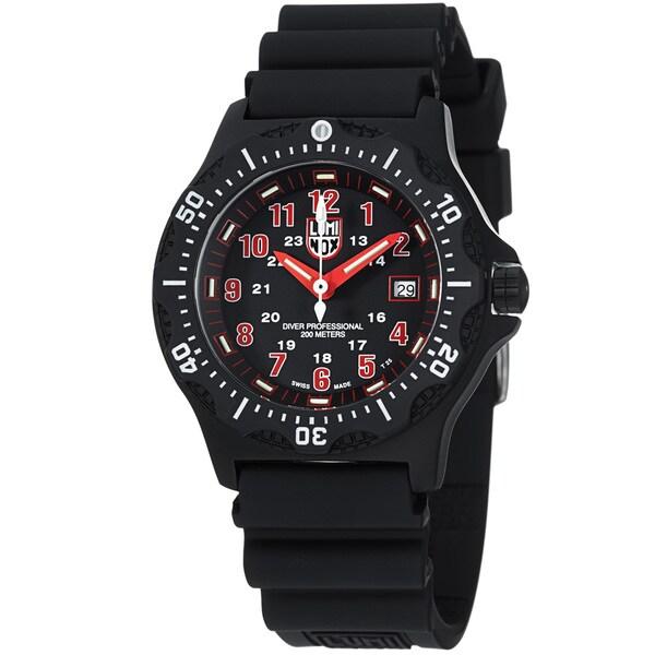 Luminox Men's 'OPS' Black Dial Black Rubber Strap Quartz Watch