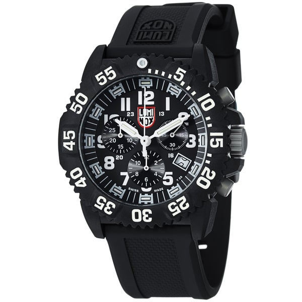 Luminox Men's 'Colormark' Black Dial Black Strap Chronograph Watch