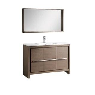 Fresca Allier 48-inch Grey Oak Modern Bathroom Vanity with Mirror