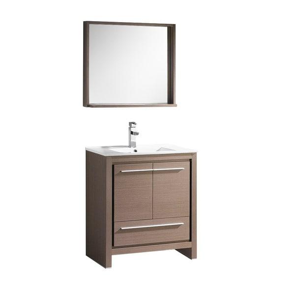 Shop fresca allier 30 inch grey oak modern bathroom vanity for Gray 30 inch bathroom vanity