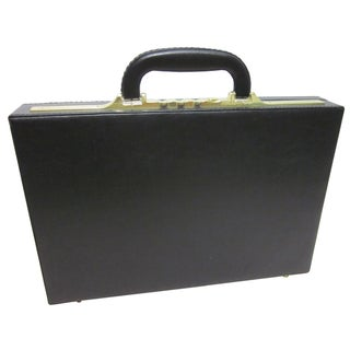Amerileather Slim Executive Faux Leather Attache Case