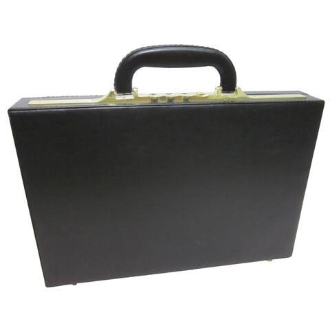 Amerileather Slim Executive Faux Leather Attache Case