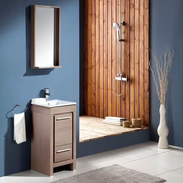 Grey Oak Modern Bathroom Vanity